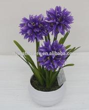 2014 new design Potted mini artificial fake flower wholesale bonsai pots