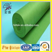 tennis ball felt material / green polyester felt 1mm thick