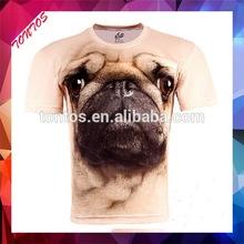 lycra surf slim fit blank animal printed 3d t-shirt