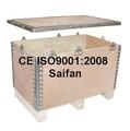 Logística caixa de madeira