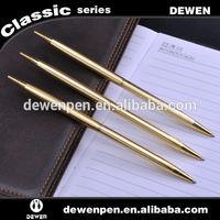Hot selling super quality gold slim bullet pen