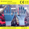 Gants de travail/latex de caoutchouc naturel gants de coton enduit/gants de sécurité