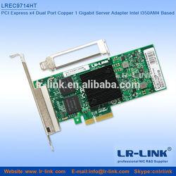 LR-LINK Support VDMq Intel I350AM4 Chipest I350-T4 PCI-e 4xRJ45 Gigabit Network Card
