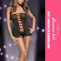 Latest fashion babydoll hot girls black women satin lingerie
