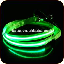 1 Inch Pet Safety Glow in Dark Green Premium Dog Leash