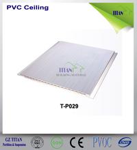 En plastique salle faux conceptions de plafond panneau de PVC 200 * 7 mm