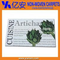 Custom artwork printed non-woven polyester commercial mat