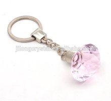 Pink key chain decorative diamond crystal