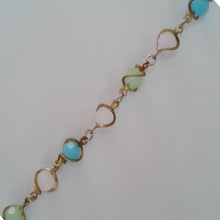 Colorful crystal beaded trimming chain wire wrapped beaded chain