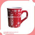 venta al por mayor de forma cuadrada de cerámica taza con el logotipo de nescafe