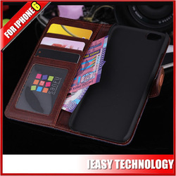 slim cards pockets jean style phone cover wallet leather cover for iphone 6