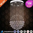 2014 modern fancy indoor crystal chandelier pendant light fixture made in china