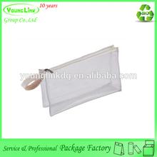 Transparent stylish pencil case / plastic pencil bag / stationery pencil bag with zipper