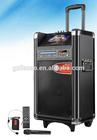 "7inch LCD screen & MP5 & CD/DVD player speaker 10"" Portable trolley Hot Sale Speaker With Karaoke Function"