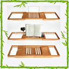 Eco-friendly, Factory Direct; Waterproofed Bamboo Bathtub Caddy