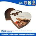 nuevo 2014 personalizado en forma de corazón de chocolate caja de invitación de la boda