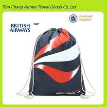 China supplier high quality custom oem company logo drawstring shopping bag