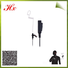 ptt microphone radiation air tube headset for two way radio P2000 GP340