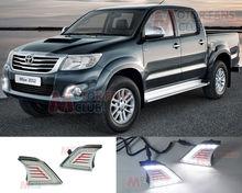 LED Daytime Running Light For Toyota Hilux Vigo Car Fog Lamp DRL 2012 2013 2014 for free shipping