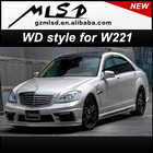 Auto tuning wald styling body kit for W221 S65 S-class