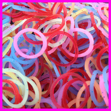 New designs Glitter Loom Bands silicone loom band /2014 Highly Welcomed Crazy Loom Bands/high quality loom bands & rubber bands