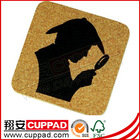 For Gift market cork decorated coaster for 2014 newest,cork bottom mat