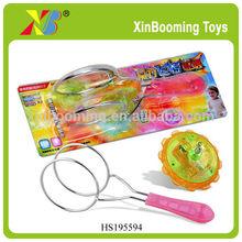 Metal track yoyo with flashing light, rolling yoyopromotional toys
