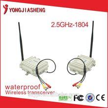 Supply 2.4GHz 4W waterproof 2km wireless transmitter and receiver