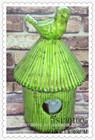 antique ceramic handmade bird house