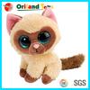 stuffed plush animal big eyed toys, plush big eyes cat toys, big eyes soft toy