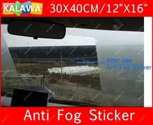 "one piece Car Anti Fog sticker 30cmX40cm 12""x16"" Auto Front windshield Anti-fog film glass window vinyl Freeshipping GGG"
