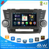 double din car dvd player for toyota highlander with GPS+TV+bluetooth+Ipod full function