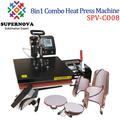 Combo da imprensa do calor da máquina, 8 1 na máquina do sublimation