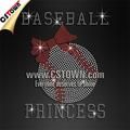 Clear Crystal Baseball princesse coréenne pierres T transferts Shirt gros