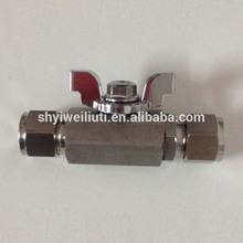 Stainless Steel 1000PSI mini ball valve BSP female thread