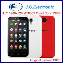 original lenovo s820 MTK6589 quad core smartphone Android 4.2 1GB/4GB Bluetooth GPS russian multi language 3G Cell phone