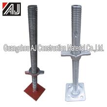 Heavy loading capacity adjustable shoring feet of scaffolding