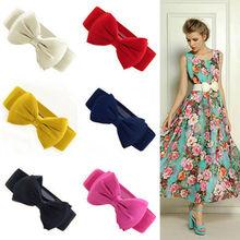 Fashion Women Bowknot wide Elastic waist belt