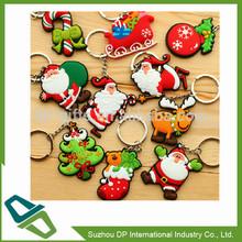 Custom Soft PVC Christmas Key Chain With Ring Key Ring