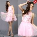 Rosa nova fotografia de moda vestidos curtos baratos