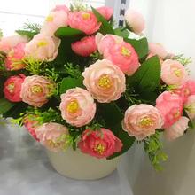 arrange artificial flowers vase
