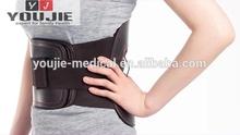 Neoprene elastic leather back support brace