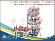 3-5 layer co extruding heatshrink POF film blowing machine
