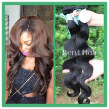Beryl Hair wholesale human hair ,cheap brazilian hair weave,body wave virgin brazilian human hair extension