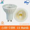 2014 luxury design great heat dissipation ceramic COB 6w gu10 spotlight tuning light