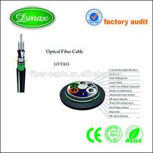 single mode optical fiber cable GYTA 53 armored loose tube optical fiber for lighting