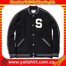 Cheap hot selling bulk applique wool american fashion custom youth size varsity jacket