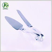 High heel wedding cake server set