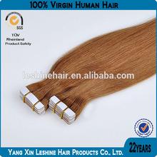 Wholesale european sticker skin weft pu glue virgin tape hair extensions