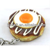 New design plastic bread fake food keychain